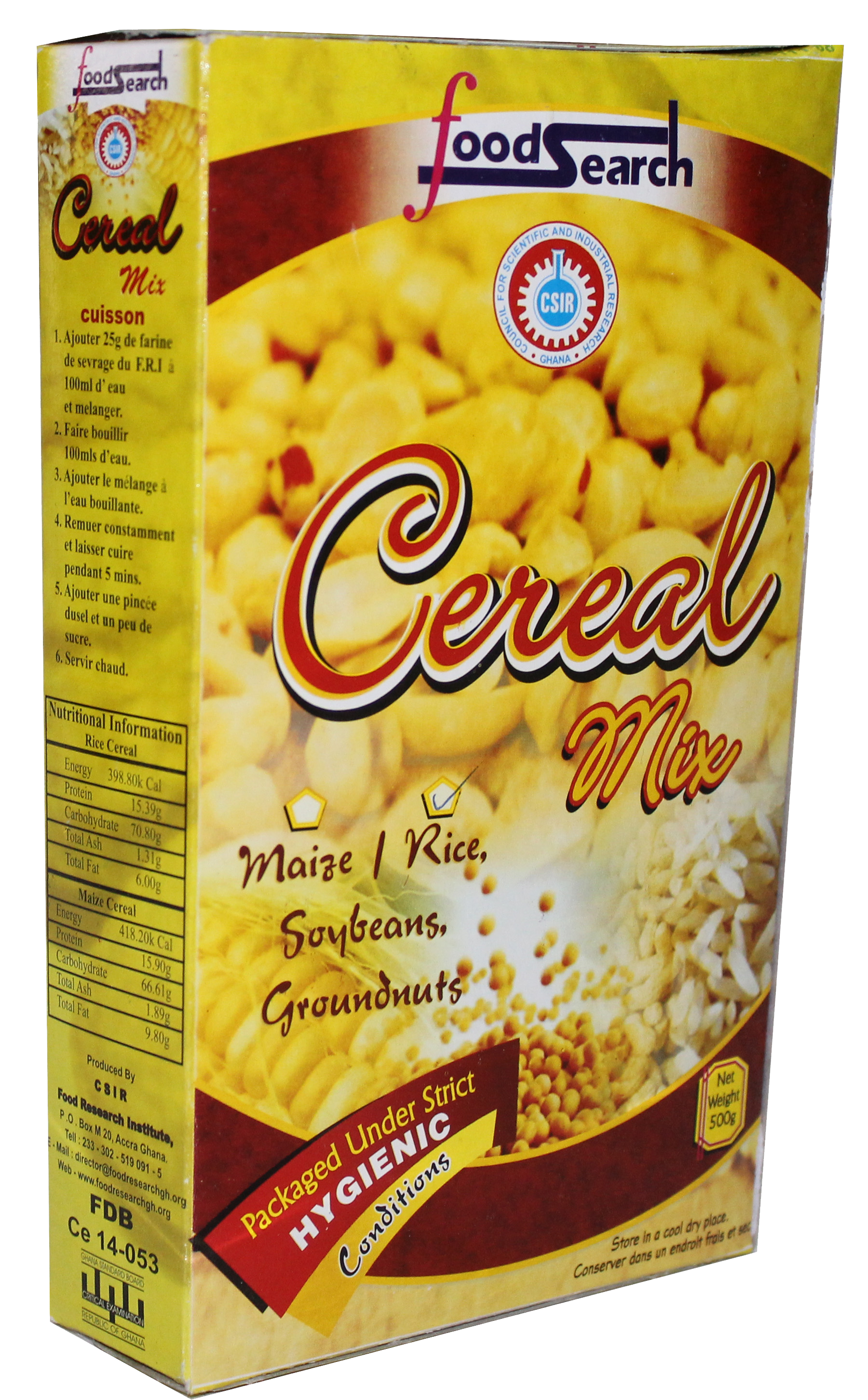 Rice Cereal Mix - CSIR-Food Research Institute